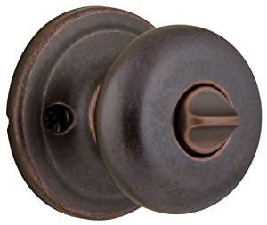 4 Pack Kwikset 730J-11P Juno Bed / Bath Privacy Knob Lockset - Venetian Bronze Finish