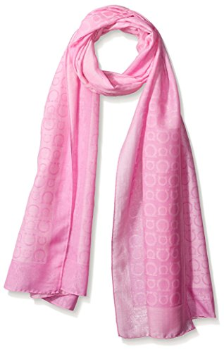 Salvatore-Ferragamo-Womens-Patterned-Scarf-Pink