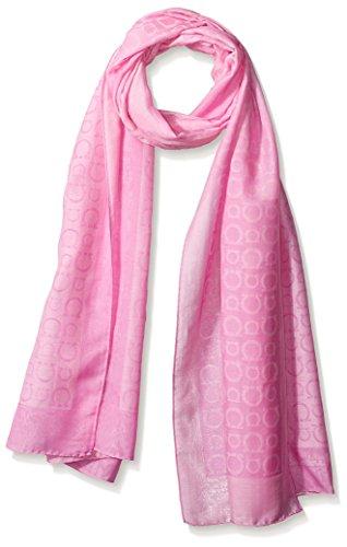 Salvatore-Ferragamo-Womens-Patterned-Scarf-Pink