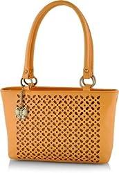 Butterflies Women's Handbag (Mustard) (BNS 0539LMSD)