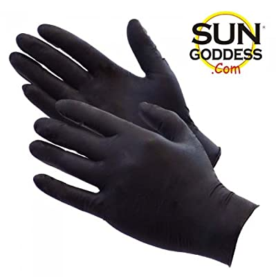 Best Cheap Deal for Sun Goddess - Sunless Self Tanning - Black Latex Application Gloves Mitt Applicator - FREE SHIPPING! Sun Goddess - The World's Best and Darkest Sunless Self Tanning Lotion Tanner from Sun Goddess - Sunless Self Tanning Products - Free