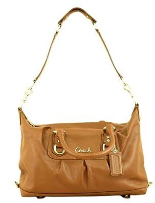 Coach Leather Ashley Sabrina Duffle Convertiable Satchel Bag Purse 15445 Walnut