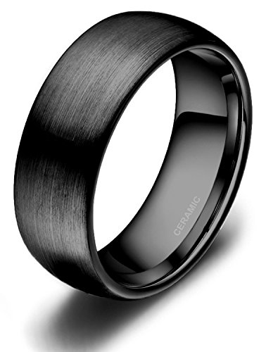 black-ceramic-rings-brushed-comfort-fit-engagement-wedding-band