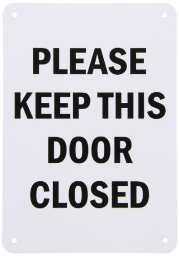 "Smartsign Plastic Sign, Legend ""Please Keep This Door Closed"", 10"" High X 7"" Wide, Black On White"