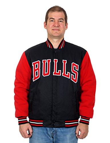 Chicago Bulls Heavyweight Reversible Jacket with Fleece Sleeves (X-Large)