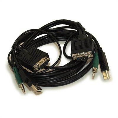6ft KVM Cable (VGA/USB-AB/3.5mm) Combo Cable (M/M)