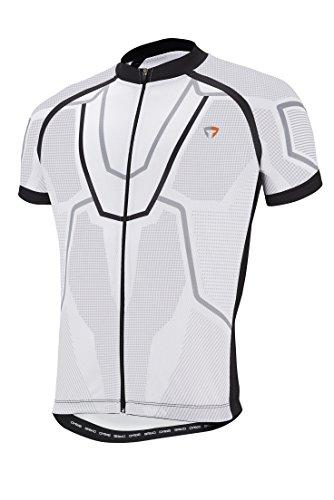 Briko Scuderia Jersey Maglia Bici, Bianco, L