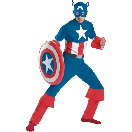Disguise Mens Captain America Classic Adult Costume