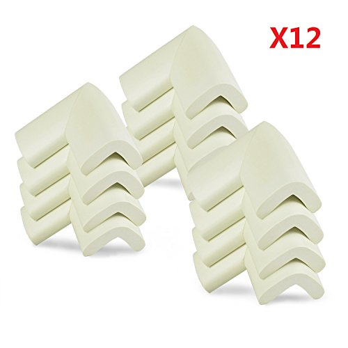 G2Plus 12PCS White Thick Baby Safety Softener Table Edge Guard Protector Corner Guards