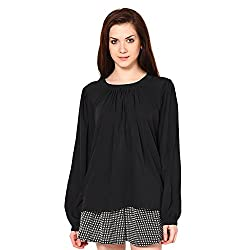 Westhreads Women's Polyester Top (Black)