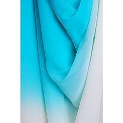 Aagaman Fashions Chiffon Fabrics (TSFDY27_SkyBlue)