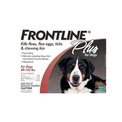 Plus Flea &#038; Tick Medication For Dogs Supply Size: 3 Month Supply, Pet Weight: 89 to 132 lbs