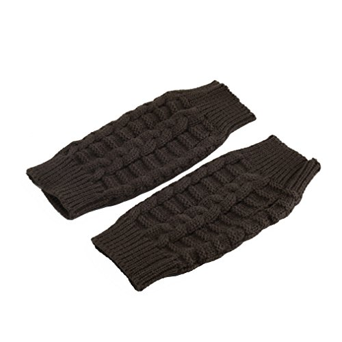 Chakit Fashion Soft Warm Mitten Unisex Men Women Knitted Fingerless Winter Gloves (Coffee) (Atlas Thermal Gloves Xl compare prices)