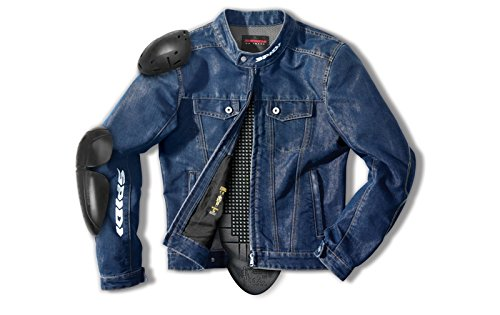 Spidi - Giacca da Moto Denim Furious, Blu, 3XL