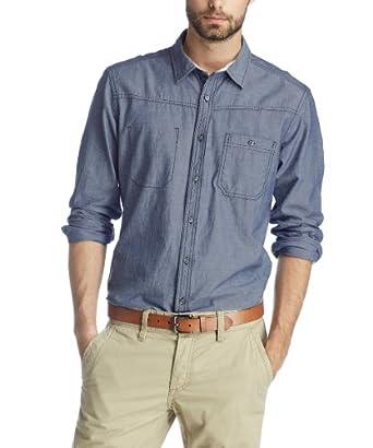 Esprit - chemise casual - coupe droite - homme - bleu - xs