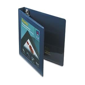 Avery Framed Presentation Ezd Locking Veiw Binder, 1in Capacity, Navy Blue (AVE68055)