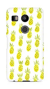 Amez designer printed 3d premium high quality back case cover for LG Nexus 5x (Pineapple Pattern)
