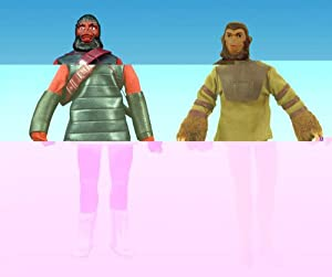 Planet of the Apes: Mego 'Cloth Retro' Cornelius & Soldier Ape Action Figures Set of 2