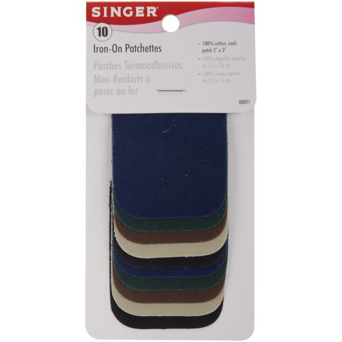 Buy Cheap Singer 2-inch-by-3-inch Iron-On Patches, Dark Assortment, 10 per package