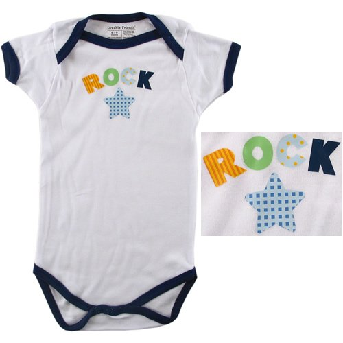 Baby-Says Bodysuit - Rock Star - Buy Baby-Says Bodysuit - Rock Star - Purchase Baby-Says Bodysuit - Rock Star (Luvable Friends, Luvable Friends Apparel, Luvable Friends Toddler Boys Apparel, Apparel, Departments, Kids & Baby, Infants & Toddlers, Boys, One-Pieces & Rompers)