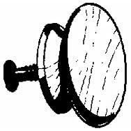 Waddell Mfg Co 921DI-1.5 Hardwood Round Knob-1-1/2