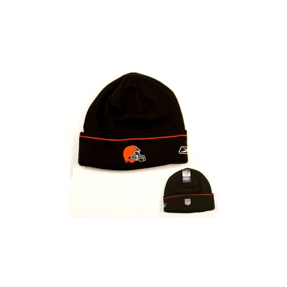 cabefd4a26f Cleveland Browns Onfield Cuffed Knit Hat Brown on PopScreen