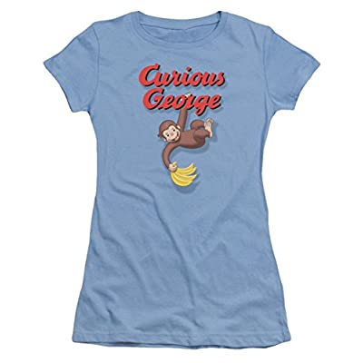 Curious George Hanging Out Ladies Junior Fit T-Shirt