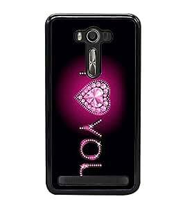 I Love You 2D Hard Polycarbonate Designer Back Case Cover for Asus Zenfone Selfie ZD551KL