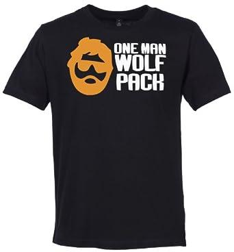 Phunky Buddha - One Man Wolf Pack Men's Slogan T-Shirt - S - Black