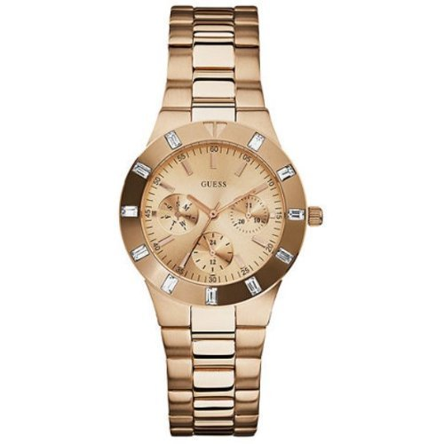 Guess Women's U13013L1 High-Shine Sport Mid-Size Rose Gold Tone Watch