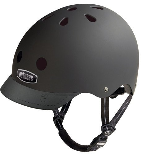 Nutcase Blackish Matte Street Helmet, Small