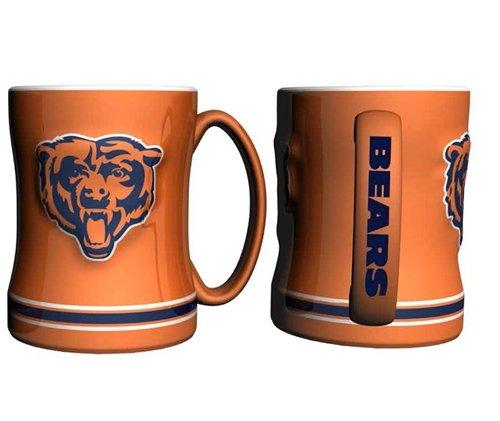 Chicago Bears Coffee Mug - 15Oz Sculpted, Orange
