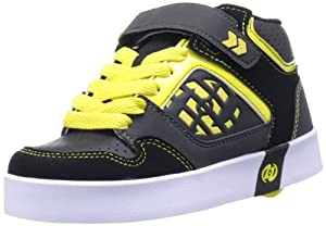Heelys Stripes Skate Shoe (Little Kid/Big Kid),Black/Gray/Yellow/White,1 M US Little Kid
