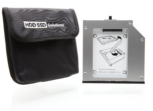 HDD caddy adapter Lenovo Thinkpad T410s T420s T430s Ultrabay 9.5mm (original Newmodeus caddy w/ carrying pouch)