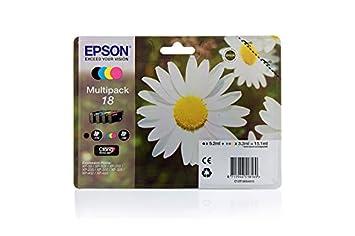 Epson Expression Home XP-205 - Original Epson C13T18064010 / 18 - Cartouche d'encre C,M,Y,K (4 pieces) -