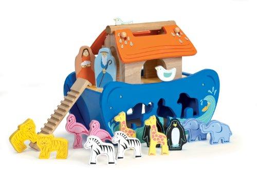 Le Toy Van Wooden Noah's Ark Shape Sorter - 1