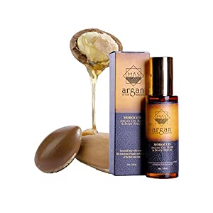 The Premium Extra Virgin Moroccan Argan Oil women cosmetics in 100ml - 100% Effective, producing result in one week of application on the Face, Hair, Skin and Nails - Natural Treatment for Wrinkles and Hair Loss for centuries - A way to healthy skin, healthy hair, and healthy life. The New York Times calling it