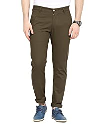 Dirty Brown Twill Non Lycra Cotton Chinos 34