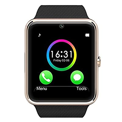 AWOW Smartwatches Bluetooth Heart Rate Hidden Camera Watch Mobile Phone White