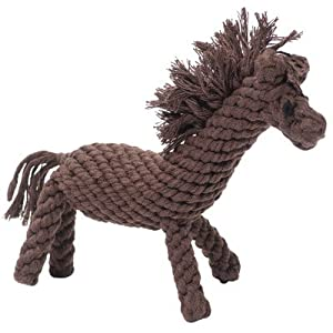 Derby the Horse Rope Dog Toy Size: Small