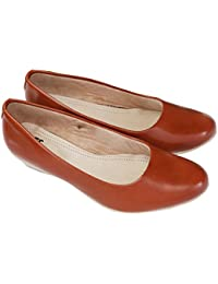 Footshez New Arrival Best Hot Selling Women's Tan Wedge Heel Casual Bellies Low Price Sale
