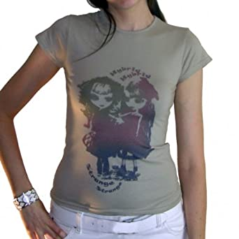 Girls Multico :T-shirt Femme imprimé poupées manga ONE IN THE CITY - Blanc, S