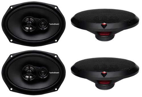 "4) New Rockford Fosgate R169X3 6X9"" 260W 3 Way Car Coaxial Speakers Audio Stereo"