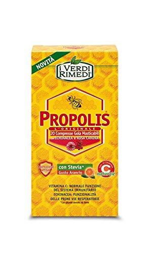 I Verdi Rimedi - Propolis L'Originale - Compresse Echinacea con Rosa Canina e Stevia gusto Arancio