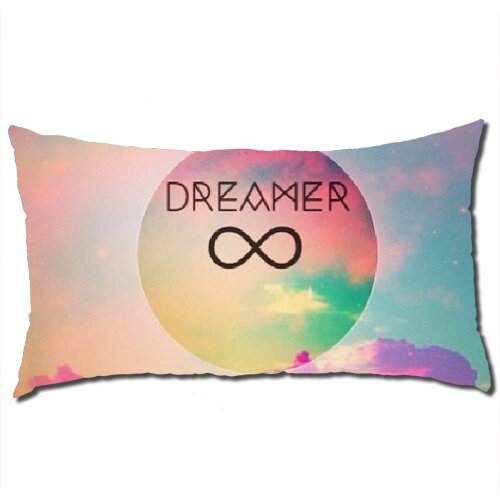 Long Pillow Cases, Dreamer Infinity Body Pillow Polyester Cases In 40 * 70 Cm- Only Case back-6119