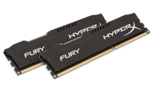 HyperX FURY Series 16GB (2x 8GB) DDR3 1600MHz CL10 DIMM Memory Module Kit - Black
