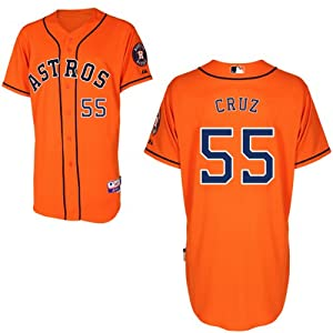 Rhiner Cruz Houston Astros Alternate Orange Authentic Cool Base Jersey by Majestic by Majestic