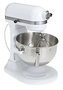 Factory-Reconditioned KitchenAid RKG25H0XWH 5-Quart  Stand Mixer, White