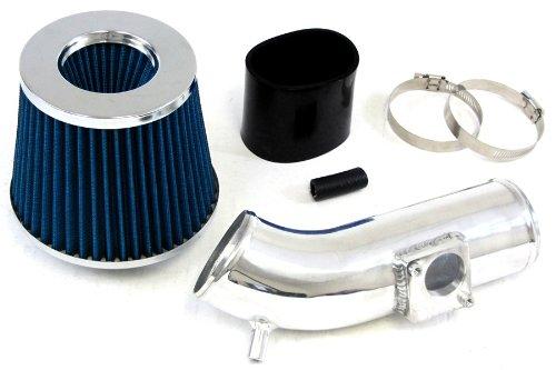 10-12 Mazda 3 Mazda3 2.5L Polish Shortram Air Intake Kit Black Hose Blue Filter 11 front-507188
