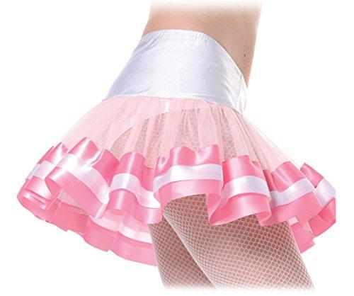 Underwraps Costumes  Women's Sexy Petticoat, Pink/White, One Size